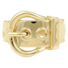 Hermes 18 Karat Yellow Gold Belt and Buckle Band Ring
