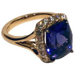 18K Rose Gold, Tanzanite and Diamonds Engagement Ring , by Frederique Berman