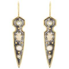 Stylet Earrings Opal by Elie Top