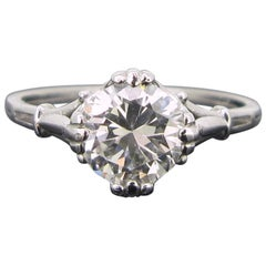 Art Deco Style Diamond White Gold Engagement Ring