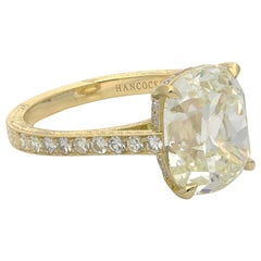 Hancocks 5.72 Ct Old Mine Brilliant Cut Diamond Solitaire Ring in 18ct Gold Band