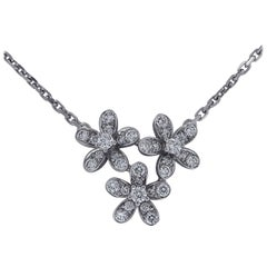 Van Cleef & Arpels Socrate 3 Flowers Pendant Necklace