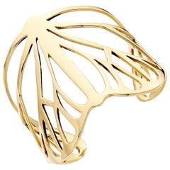 Butterfly Cuff Bracelet in 18 Karat Gold