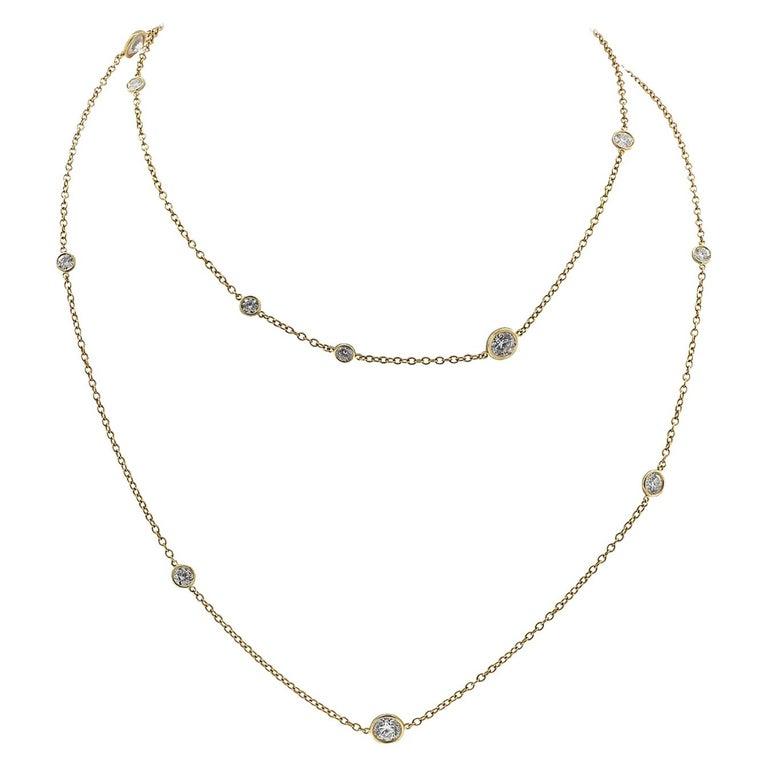 8b57c84bdee1a Tiffany & Co. Elsa Peretti Diamonds by the Yard Necklace