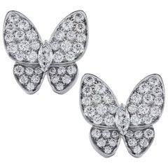 Van Cleef & Arpels Two Butterfly Diamond Earrings