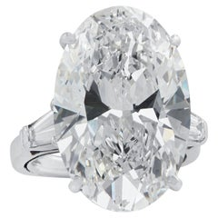 GIA Certified 16.52 Carat Oval Cut Diamond Engagement Ring