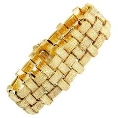 Roberto Coin Appassionata Diamond Yellow and White Gold Bracelet