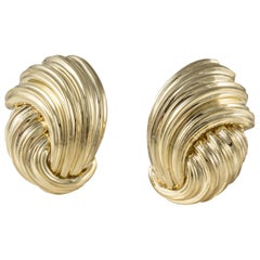 Henry Dunay Polished Gold Earrings