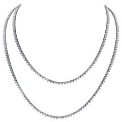 52.40 Carat Diamond Line Necklace