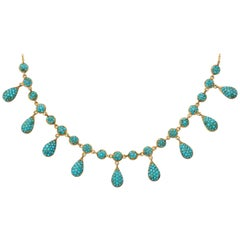 Antique Mid Victorian Persian Turquoise Necklace