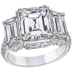 Extraordinary GIA Certified 4.06 Carat Diamond Engagement Ring