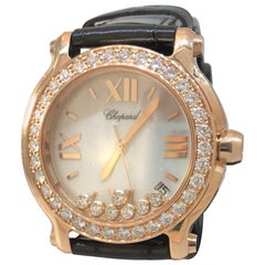 Chopard Happy Sport Rose Gold Mother of Pearl Diamond Ladies Watch 27/7473-5002
