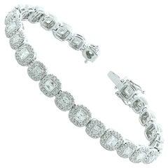 Diamond Gold Tennis Bracelet