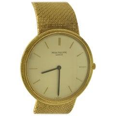 Patek Philippe Calatrava Yellow Gold Bracelet Silver Dial Men's Watch 3520DJ/1!!