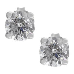 Round Diamond Four-Prong Studs