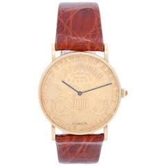 Corum $20 1880 Liberty Double Eagle Gold Coin Men's Quartz Watch