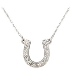 "Diamond ""Horse Shoe"" Pendant"