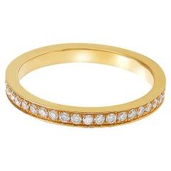 Giulians 18 karat Yellow Gold and White Diamond Ring