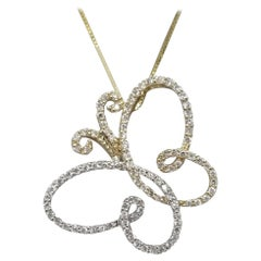 """Diamond """"Butterfly"""" Outlined Pendant"""