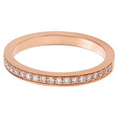 Giulians 18 karat Rose Gold and White Diamond Ring