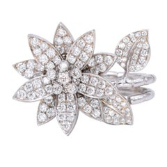 "Van Cleef & Arpels ""Lotus"" Diamond Ring"