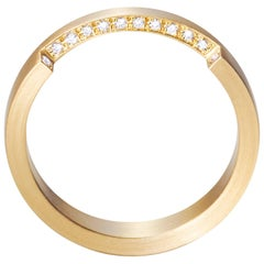 18 Karat Yellow Gold Diamond Ring