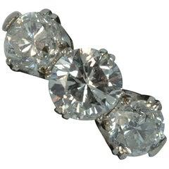 Antique 2.00 Carat Diamond 18 Carat Gold and Platinum Trilogy Engagement Ring