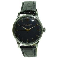 I.W.C. Schaffhausen Steel High Grade Automatic Watch, circa 1940s