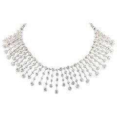 Cartier 60.00 Carat Diamond Platinum Necklace