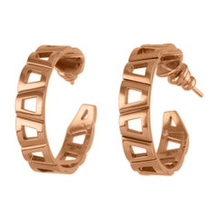 18 Karat Rose Gold Theodora Earring