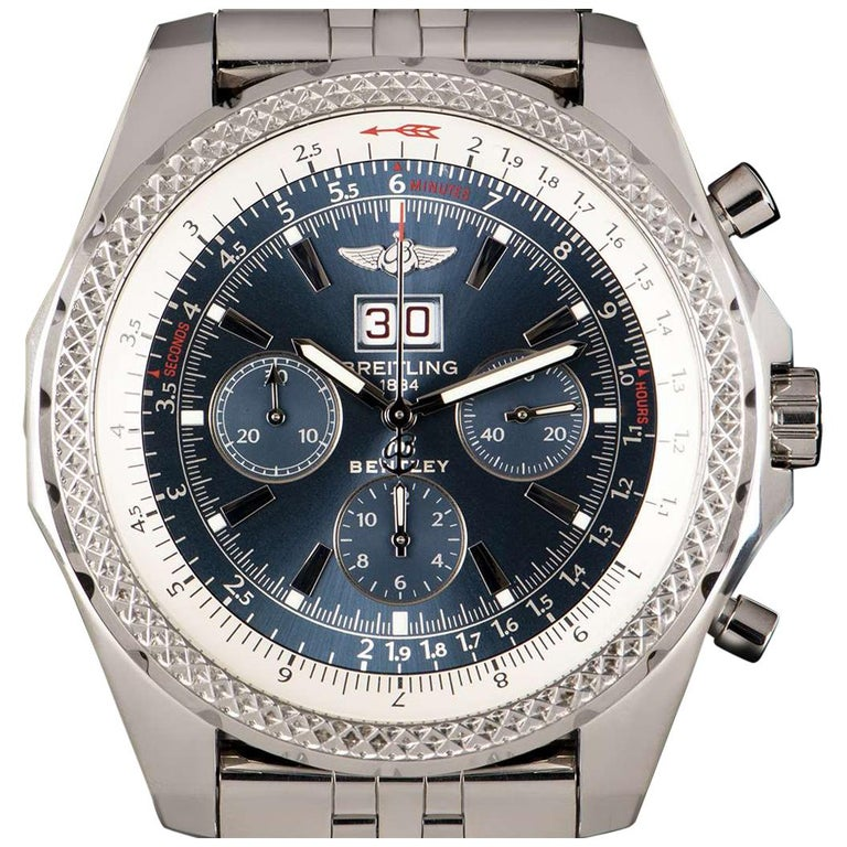 Breitling For Bentley 6.75 Gents Steel Blue Dial A4436212