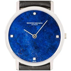 Vacheron Constantin Mid-Size White Gold Lapis Lazuli 7243P Manual Wind Watch