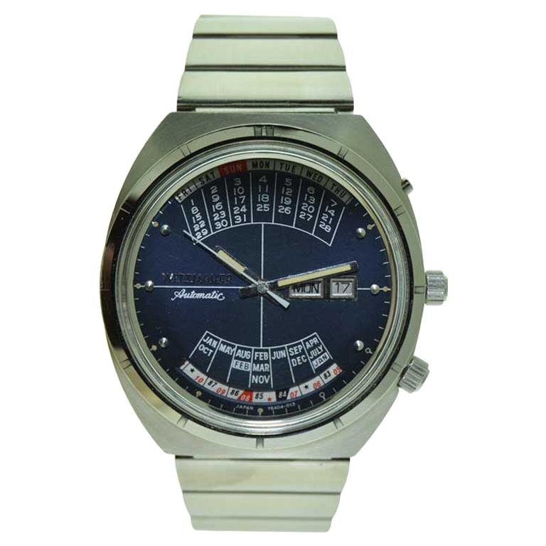 Wittnauer Steel Calendar Watch with Original Dial and Bracelet in New Condition