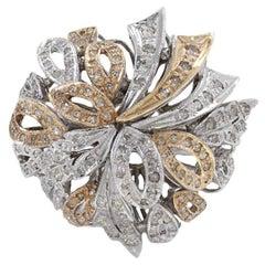 Diamonds Multi Ribbon Fashion Gold Ring