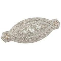 Art Deco Platinum and Diamond Pendant or Brooch