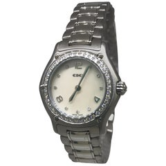 Ebel 1911 Stainless Steel Diamond Bezel and Dial Mother of Pearl Ladies Watch