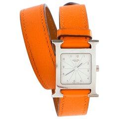 Hermès Orange Double-Strap Watch