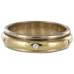 Modern White Gold Yellow Gold Diamond Mobile Wedding Ring