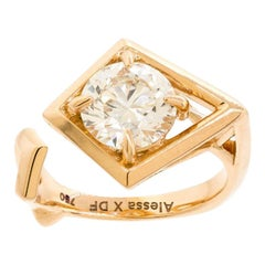 GCAL Certified 18K Rose Gold & 1.50ctw Diamond Secret Night Pinky Ring by Alessa