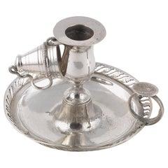 Italian Silver Circular Chamberstick, 1820s