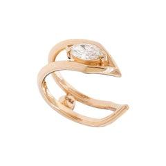 GCAL Certified 18 Karat Gold and 0.27 Carat Diamond Secret Whisper Ring, Alessa