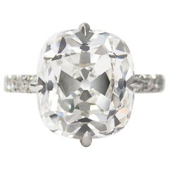 J. Birnbach GIA Certified 7.01 Carat Old Miner Diamond Ring