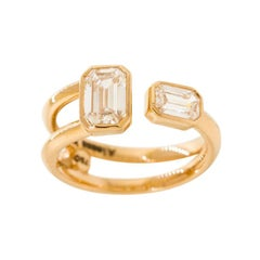 GCAL Certified 18K Rose Gold & 0.76 ctw Diamond You & Me in the Clouds by Alessa