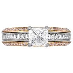 Simon G 0.90 Carat GIA Certified Radiant Cut Diamond Engagement Ring
