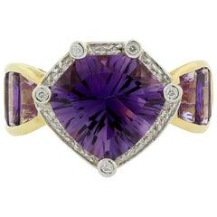 Bellarri Amethyst Diamond Gold Ring