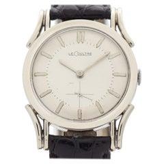 Vintage LeCoultre 10 Karat White Gold Filled Watch, 1950s
