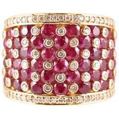 Effy 2.75 Carat Ruby Accent Diamond Ring
