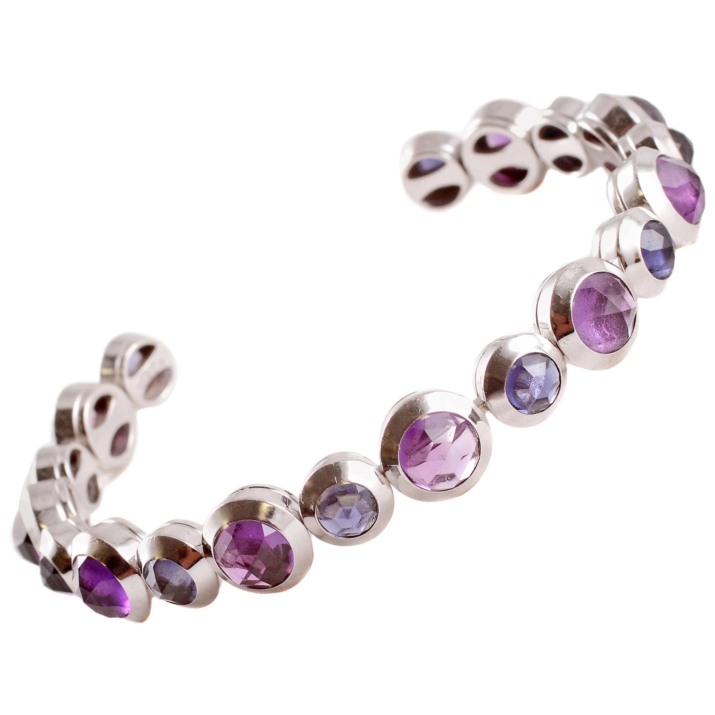 Tiffany & Co. Rose-Cut Amethyst Iolite Cuff Bracelet