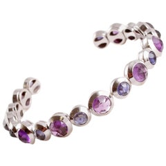 Tiffany & Co. Rose-Cut Amethyst Iolite Cuff Bracelet