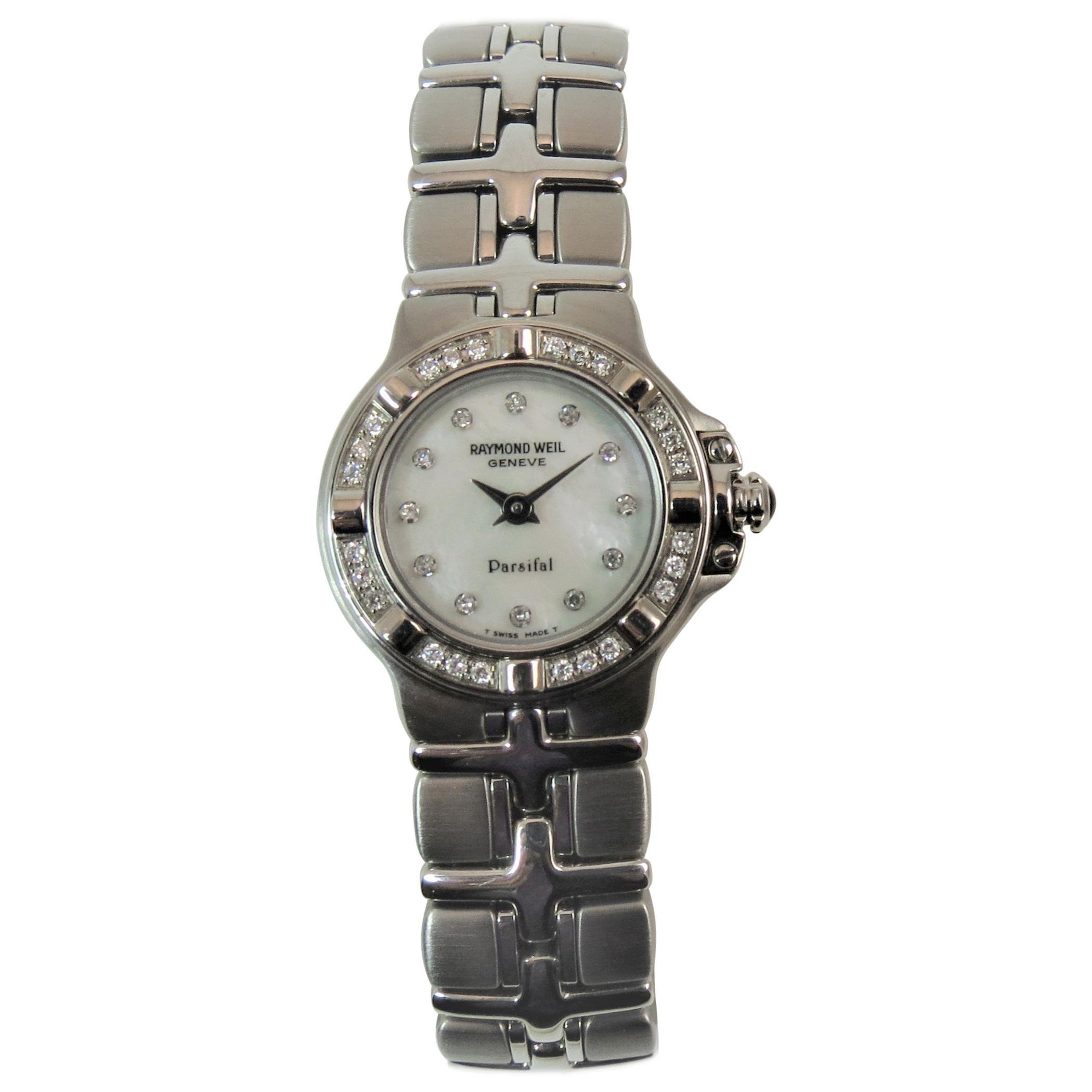 Brand New Ladies Raymond Weil Stainless Steel Diamond Bracelet Watch